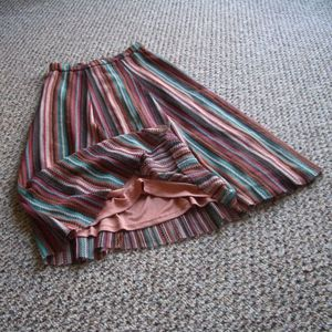 Zara knit striped elastic waist midi long skirt S